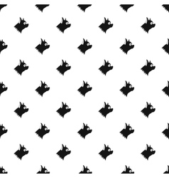 Pinscher dog pattern simple style vector image vector image