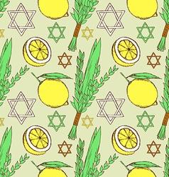 Sketch Sukkot pattern vector image