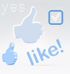 Social network signs of appeciacion vector image