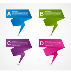 Abstract business options paper infographics vector image vector image