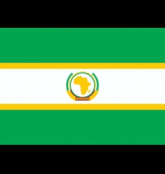 African union flag vector image vector image