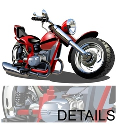 Cartoon Motorcycle vector image