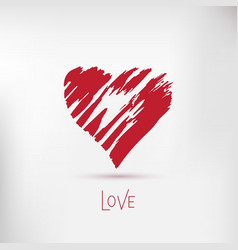 Handdrawn painted heart element for your vector image vector image