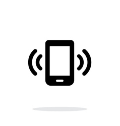 Mobile phone bell icon on white background vector image vector image