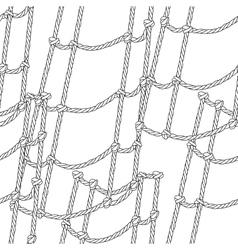 Nautical ship ropes seamless pattern vector image