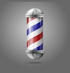 Old fashioned vintage silver glass barber shop vector image vector image