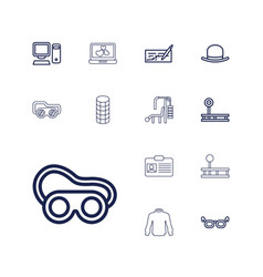 13 personal icons vector