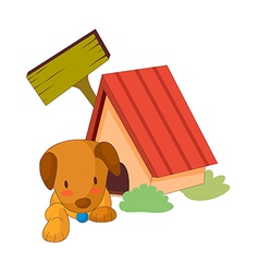 A puppy in the house vector