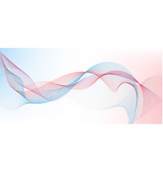 abstract blue and red wavy dots particles lines vector image