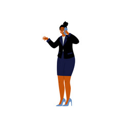 african american business woman talking on phone vector image