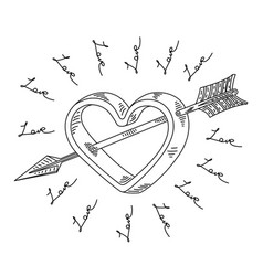 Arrow cupid symbol love vector