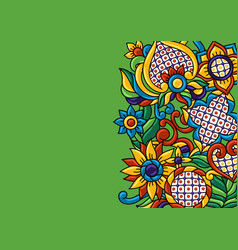 Background with mexican talavera pattern vector