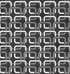 black and white chains seamless pattern vector image