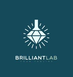Brilliant lab logo vector