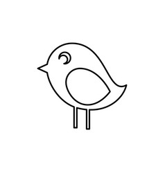 Cute bird icon vector