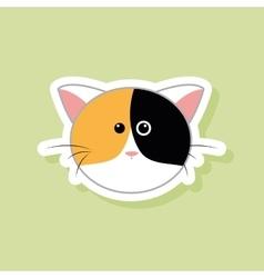 Cute cat face vector