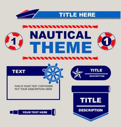 Design template nautical theme vector