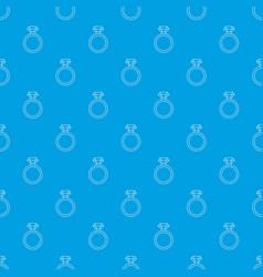 diamond engagement ring pattern seamless vector image
