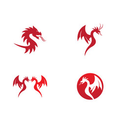 dragon symbol vector image