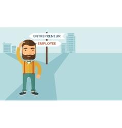 Employee to entrepreneur vector