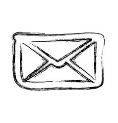 Figure letter message icon vector