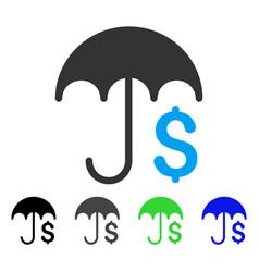 Financial umbrella flat icon vector