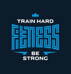 fitness - original lettering label or print for vector image