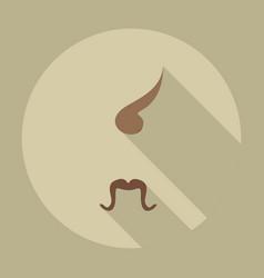Flat modern design with shadow icons kozak vector