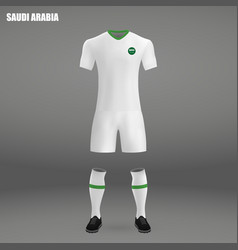 Football kit of saudi arabia 2018 vector