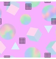 geometric trendy 80s retro seamless pattern vector image