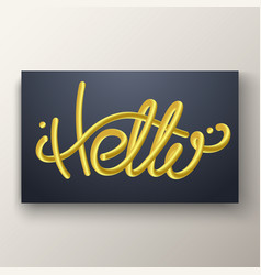 Glossy gold blended letters 3d bubble font vector