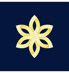 gold flower vector image