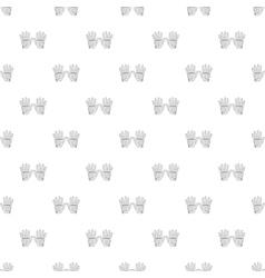 Golf gloves pattern cartoon style vector
