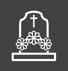 grave with flowers vector image