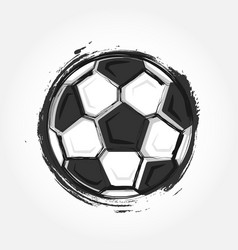 grunge style football vector image