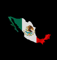 hanging mexico flag in form map united mexican vector image