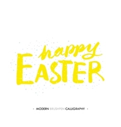 Happy Easter lettering write with brush pen vector image