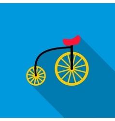 Highwheel bike icon flat style vector image