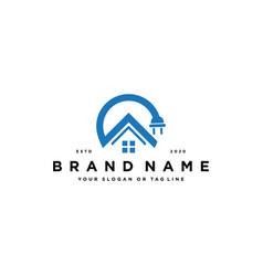 Home electric logo design vector