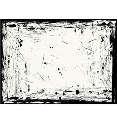 Horizontal grungy frame vector
