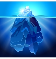 Iceberg in water realistic background vector image