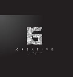 Ig i q letter logo with zebra lines texture vector