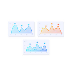 infocharts ui elements kit vector image