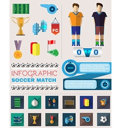 Infographic Soccer Match vector