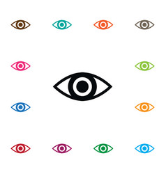 Isolated look icon eye element can be used vector