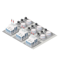 Isometric 3d city module industrial urban factory vector