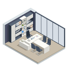 Isometric vip office furniture ceo office vector