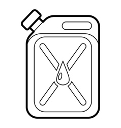 Jerrycan icon outline style vector image