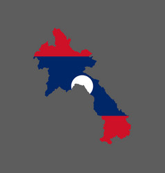 laos flag and map vector image