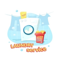 Laundry service concept design vector image